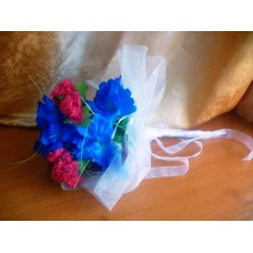Сватбен Букет Сини цветя
