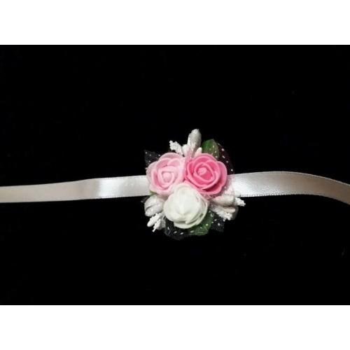 Сватбена гривна в розово