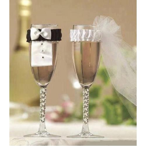 Подвижна украса за ритуални сватбени чаши