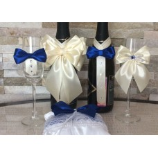 Комплект подвижна украса за чаши, шампанско и вино