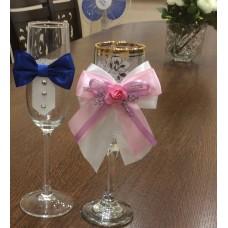 Подвижна украса за сватбени чаши