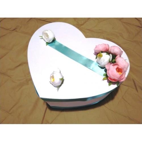 Кутия за пари Сърце с божури