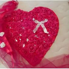 Сватбена украса за кола Сърце