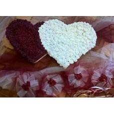 Сватбена украса Сърца Бордо