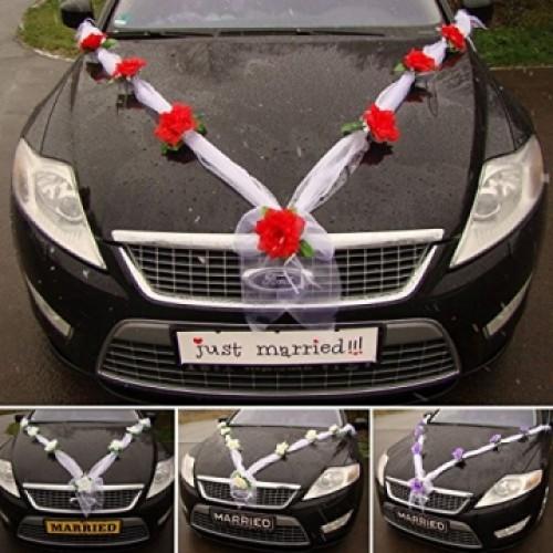 Сватбена украса за кола