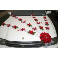 Сватбена украсa за автомобил