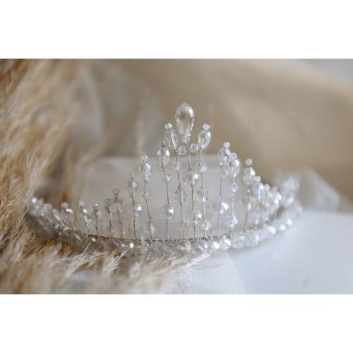 Булчинска коронка с кристали