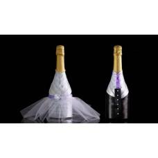 Подвижна украса за бутилка булка и младоженец