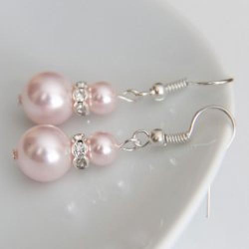Сватбени обеци перли