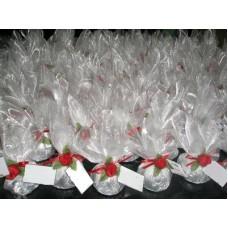 Подаръчета за гости тюлена торбичка с лавандула