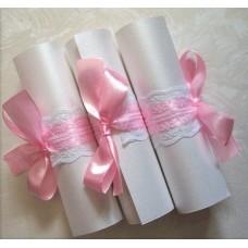 Луксозни сватбени покани папирус