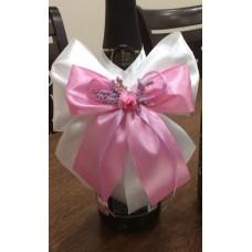 Подвижна украса за сватбено шампанско
