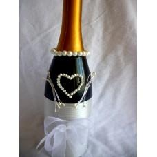 Сватбено шампанско Перлено Сърце