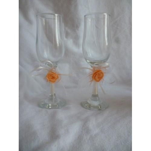 Украса за сватбени чаши или свещи