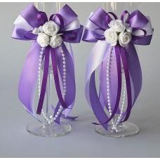 Сватбена Украса за чаши или свещи